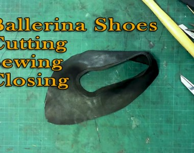 Ballerina Shoes: Cutting/Sewing/Closing -05
