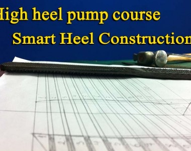 High heel pump shoes course: Smart heel construction 010