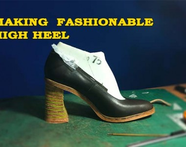 High heel pump shoes:  Making  fashionable high heel 011