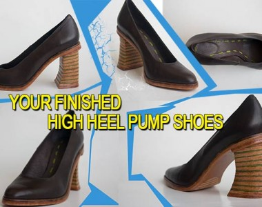 High heel pump shoes course: Your finished high heel pump shoes