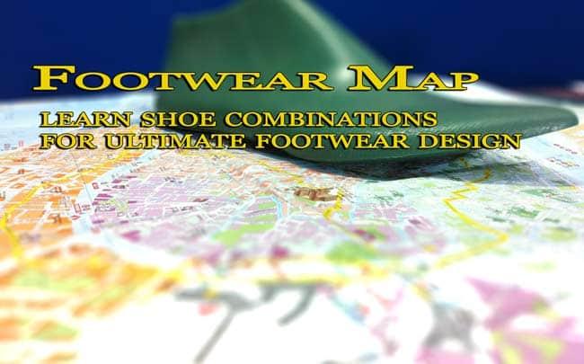 Footwear map: learn footwear combinations for ultimate footwear design