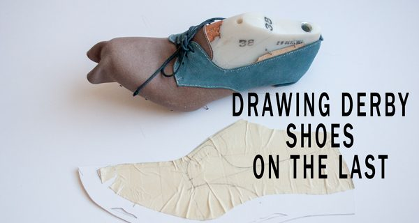 Drawing Derby Shoes on the Last: Bespoke Derby Handsewn Opanca Shoes Course 14