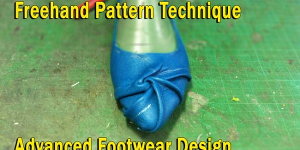 Freehand pattern technique: Advanced  footwear design 008