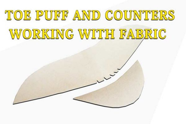Toe puff and counters- working with fabric