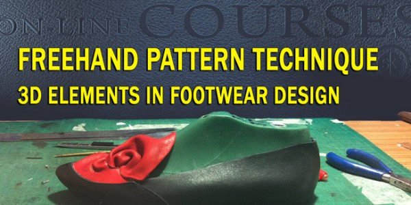 Freehand pattern technique: 3D elements in footwear design 009