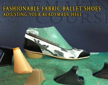 Fashionable fabric ballet shoes: Adjusting your readymade heel 008