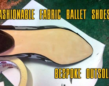 Fashionable fabric ballet shoes: Bespoke outsole 009