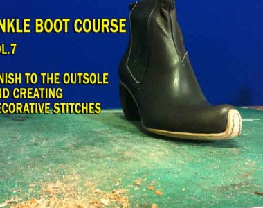Ankle boot course Vol.7 Elastic Boots: Finish to the outsole and creating decorative stitches
