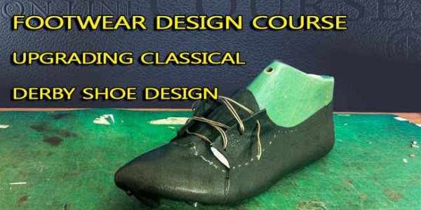 Footwear design course:  Upgrading classical derby shoe design 012