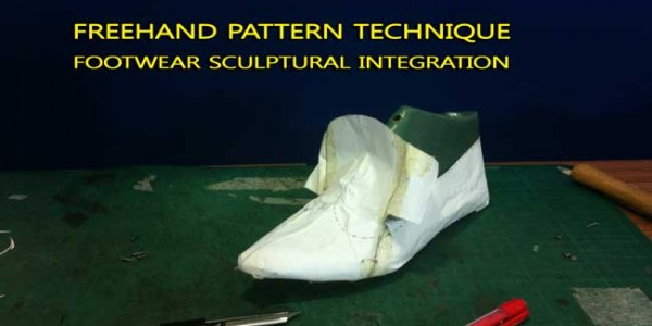 Footwear design course: Freehand pattern technique- footwear sculptural integration 011
