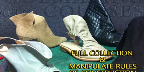 Footwear design course: Full collection with just one last and how to manipulate rules of construction  014