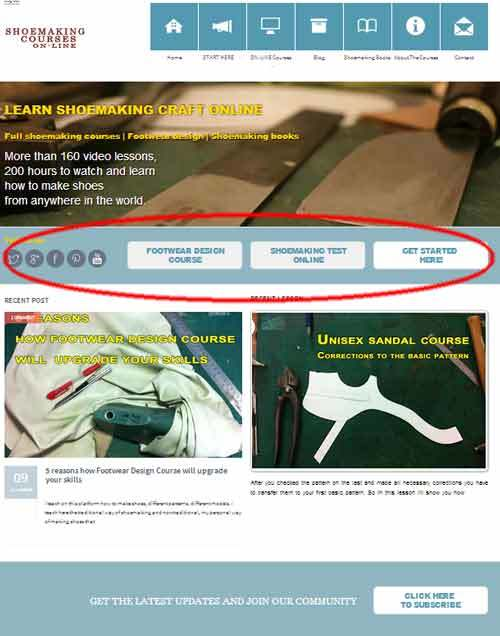 shoemaking home-page
