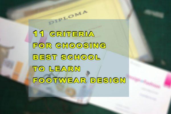 11 Criteria For Choosing Best School to Learn Footwear Design