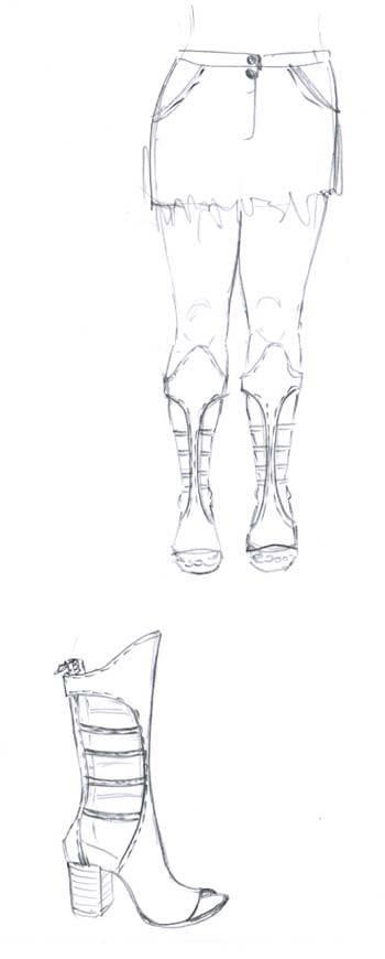 Gladiator sandal making