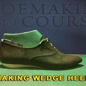 Oxford shoes: Shoe making approach to create wedge heel 009