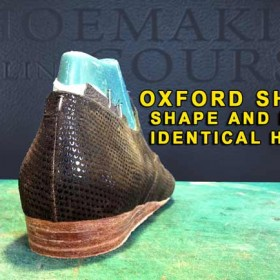 Oxford shoes: Shoe making technique to create match heels 11