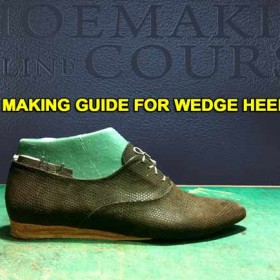 Oxford shoes: Making leather wedge heel 010
