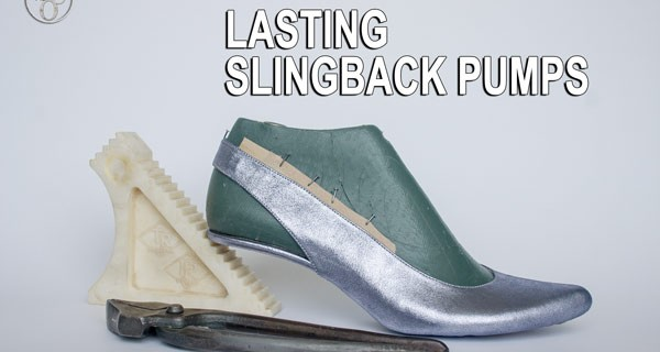 Slingback pumps: Lasting the shoe upper 09