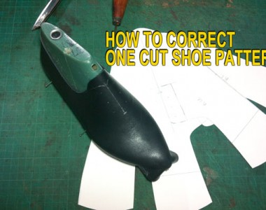 One cut Oxford shoes: How to correct one cut shoe pattern 08