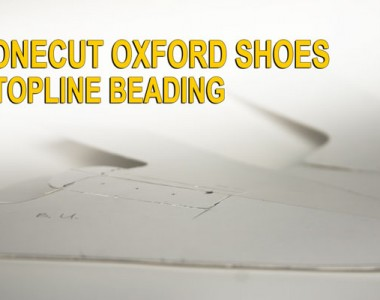 One cut Oxford shoes:Topline beading 09