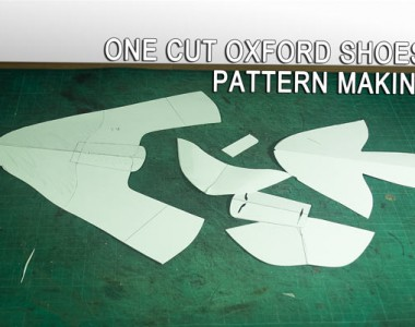 One cut Oxford shoes pattern making is complete 11