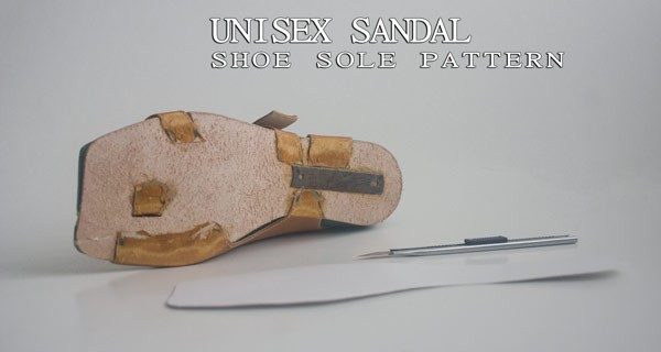 Shoe sole pattern making: Unisex sandal-11