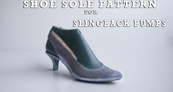 Shoe sole pattern for slingback pumps 12