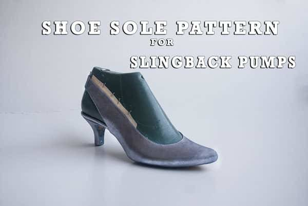 Shoe Sole pattern for Slingback pumps