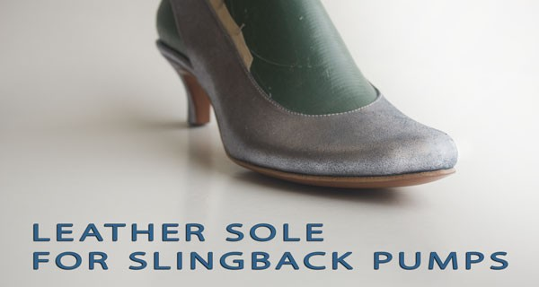 Slingback pumps course: Leather sole for slingback pumps 13
