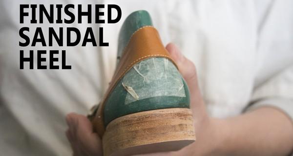 Finished sandal heel :Unisex sandal course-14