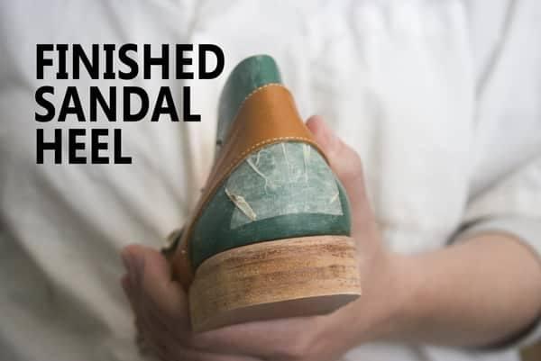 Finished sandal heel