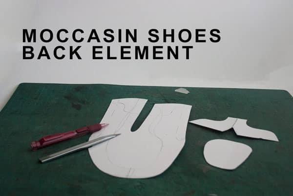 Moccasin shoes back element