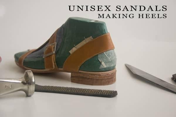 Unisex sandals making heels