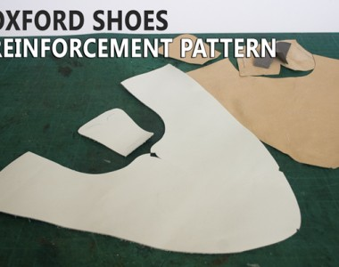 Oxford Shoes Reinforcement Pattern and Cutting leather parts: One cut Oxford shoes 12