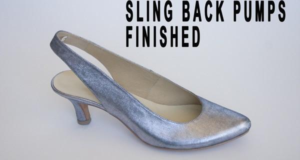 Slingback Pumps :Finished