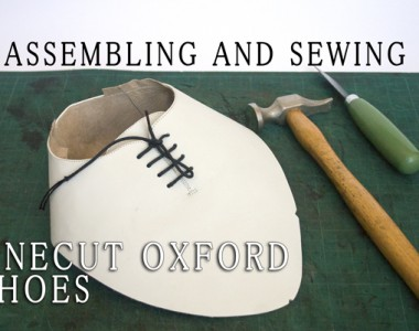 Assembling and sewing of Onecut Oxford shoes 13