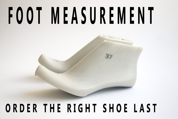 Foot measurement.  Order the right shoe last !
