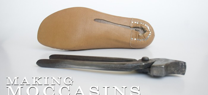 Making moccasins: Finished lasting 17