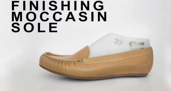 Finishing moccasin sole: How to make moccasins 21