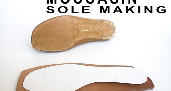 Moccasin Sole Making step 1: How to make moccasins 20