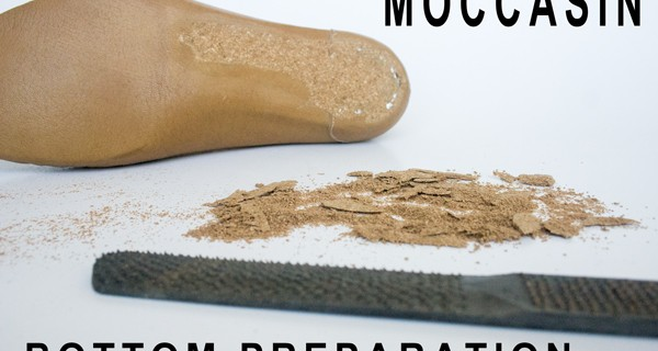 Moccasin making bottom preparation 19