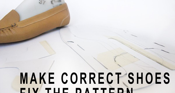 To make correct shoes fix the pattern: Making moccasins 18