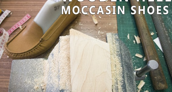 Wooden heel : How to make moccasins 025