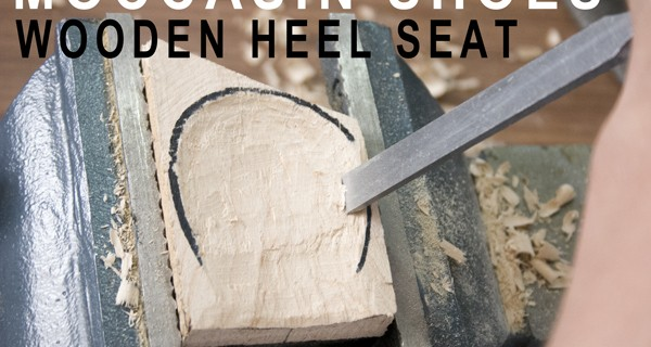 Wooden heel seat :How to make moccasin shoes 26