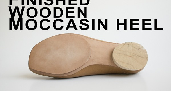 Finished Wooden Moccasin Heel: How to make moccasins 28