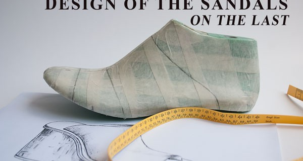 Design of the Sandals on the Last:Wedge cork sandal course 13