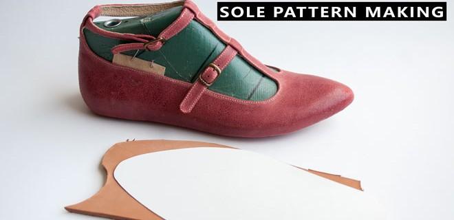 Sole pattern making of T strap pumps: T strap pump shoes course 15
