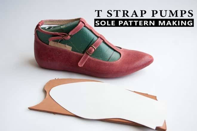 Sole-pattern-making-of-T-strap-pumps