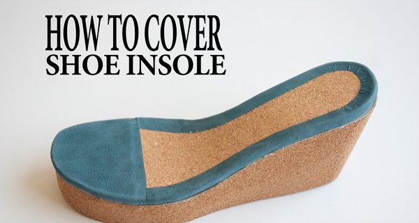 How to Cover Shoe Insole: Wedge cork mule sandal course 19