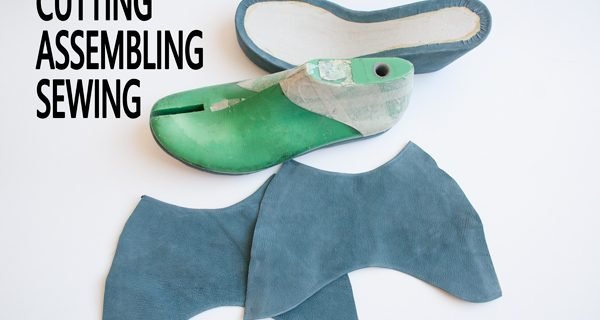 Cutting/ Assembling/ Sewing : How to make cork wedge mule sandals 22